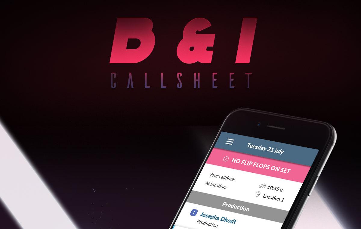B&I Callsheet