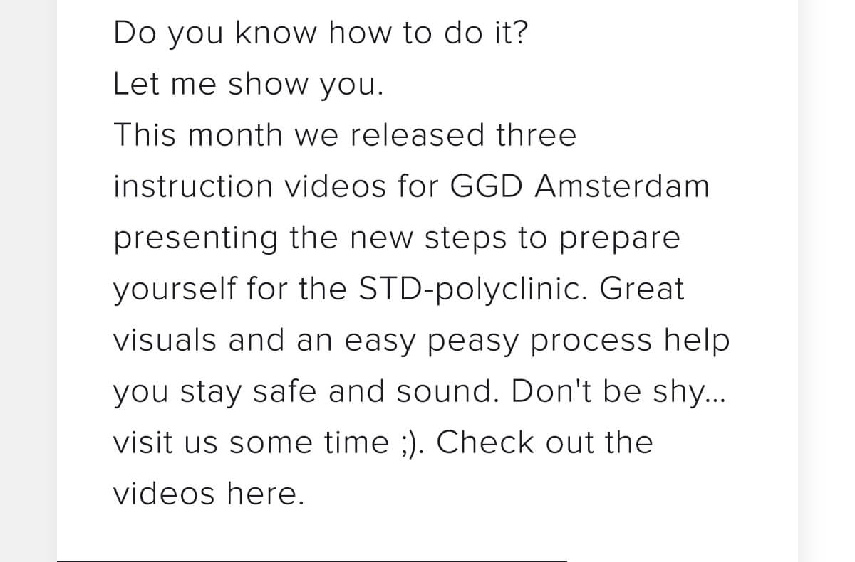 GGD - Videos