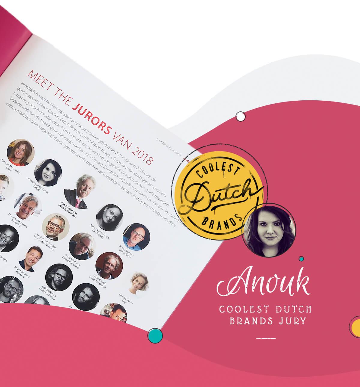 Anouk coolest dutch brands jury