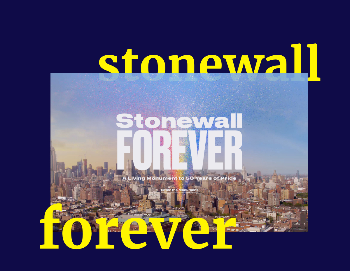 Stonewall forever - A Living Monument to 50 Years of Pride