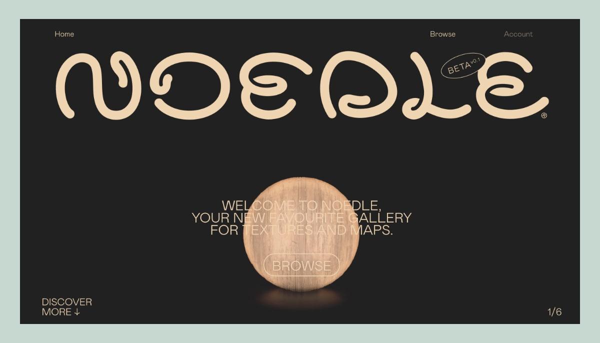 Noedle website